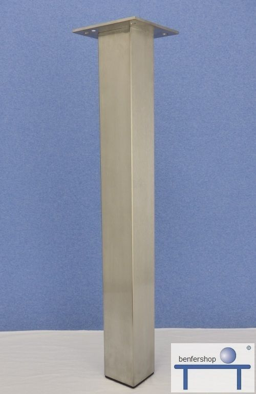 tischbein edelstahl eckig 80 mm im benfershop kaufen. Black Bedroom Furniture Sets. Home Design Ideas