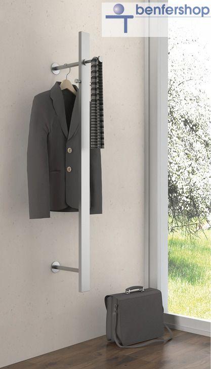 Kleiderstange An Wand wandgarderobe mit ausziehbarer kleiderstange im benfershop kaufen