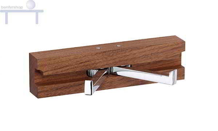doppelwandhaken aus holz und metall im benfershop kaufen. Black Bedroom Furniture Sets. Home Design Ideas