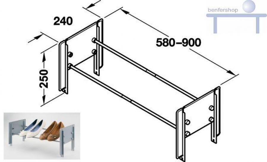 schuhablage schrank breitenverstellbar im benfershop kaufen. Black Bedroom Furniture Sets. Home Design Ideas